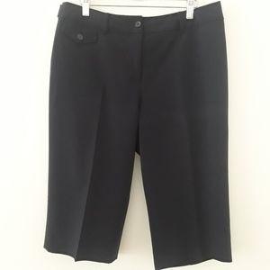 Nygard Collection Navy Blue Capri Pants
